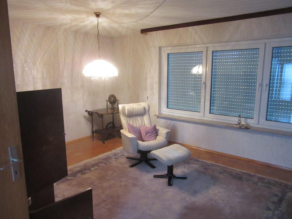 Home Staging Heilbronn Einfamilienhaus Wohnzimmer Vorher
